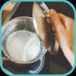 Step 2 - ebolizzione acqua per eliminare residui e grassi alimentare da tubature